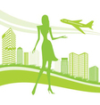 urban and airport background vector image
