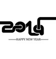 2019 happy new year simple writing black two vector image vector image