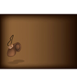 A Beautiful Castanet on Dark Brown Background vector image vector image