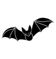 a black bat with outstretched wings on white