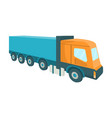 a large truck for transport goods vector image vector image