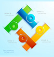 abstract infographic concept vector image