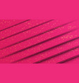 abstract pink paper cut style background with vector image vector image