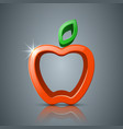 apple leaf 3d icon logo vector image