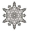arabic floral pattern motif vector image vector image
