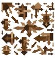 arrows - design elements vector image vector image