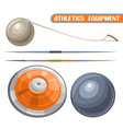 athletics equipment vector image