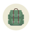 backpack camping icon for outdoor travel vector image vector image