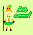 banner or card for summer party tropical vector image