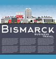 bismarck north dakota city skyline with color vector image vector image