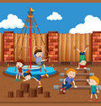 boys playing on playground vector image vector image