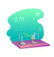 chemistry lab flat vector image