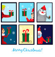 christmas collection with six cards eps vector image vector image