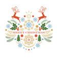 christmas deer merry greeting card vector image vector image