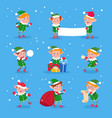 christmas elf baelves santa claus helpers vector image