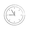 clock time hour accessory object icon vector image vector image