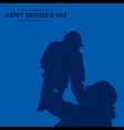 Creative of Mothers Day greeting card vector image