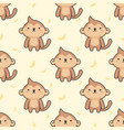 cute monkey seamless pattern background vector image vector image