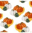 cute seamless autumn pumpkin pattern vector image