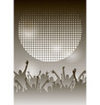 dance party night poster monochrome background vector image vector image