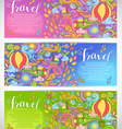 Doodle art with summer travel theme vector image vector image