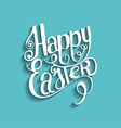 easter vintage lettering background vector image vector image