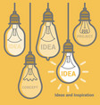 electric bulb icon set vector image vector image