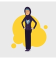 Elegant slim arabic muslim businesswoman Arab vector image