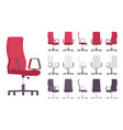 executive office chair furniture set vector image vector image