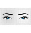 eyes hand drawn female luxury eye vector image vector image