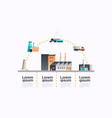 factory building icon infographic template plant vector image vector image