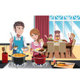 family dinner vector image