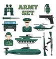 Flat Army Icon Set vector image vector image