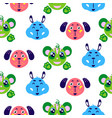 funny animals cute smiling childish vector image vector image