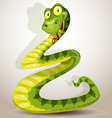 Funny green cheerful Snake vector image