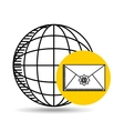 global email concept world message vector image vector image