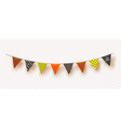 halloween flags garlands with orangeyellow and vector image vector image