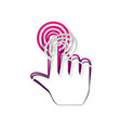 hand click on button detachable paper vector image vector image