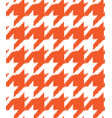 hand drawn ikat houndstooth seamless pattern vector image vector image