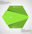 Hexagon infographic template divided to three vector image vector image