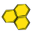 honeycomb icon icon cartoon vector image vector image