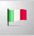 italy waving shiny flag design vector image