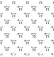 kid goat pattern seamless vector image