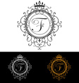 Letter F Luxury Logo template flourishes vector image vector image