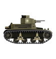 m2 light tank - realistic vector image vector image
