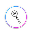 magnifying glass with world map icon isolated on vector image vector image