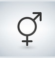 male and female sex symbol black vector image vector image