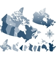 map canada and provinces vector image