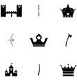 medieval icon set vector image vector image