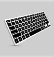 modern computer keyboard background vector image vector image